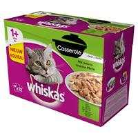 Whiskas Pouch Casserole Adult Mix Selection in Gelei 12x85 gram