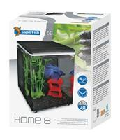 Superfish Home 8 Aquarium Zwart